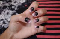 51+ Beautiful Black Ombre Nail Art Design Pictures