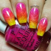 red orange and yellow ombre nails