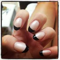 The gallery for --> Black French Nails Design
