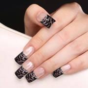 stylish black french tip