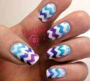 beautiful chevron nail