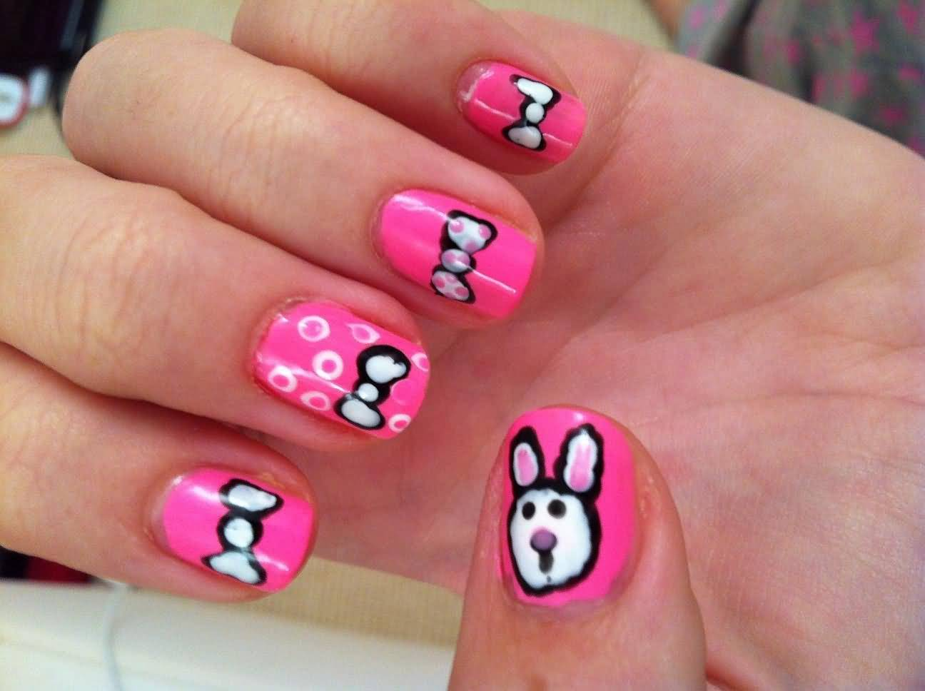 40+ Stylish And Simple Bow Nail Art Design Ideas