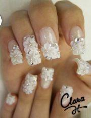 beautiful 3d flowers nail