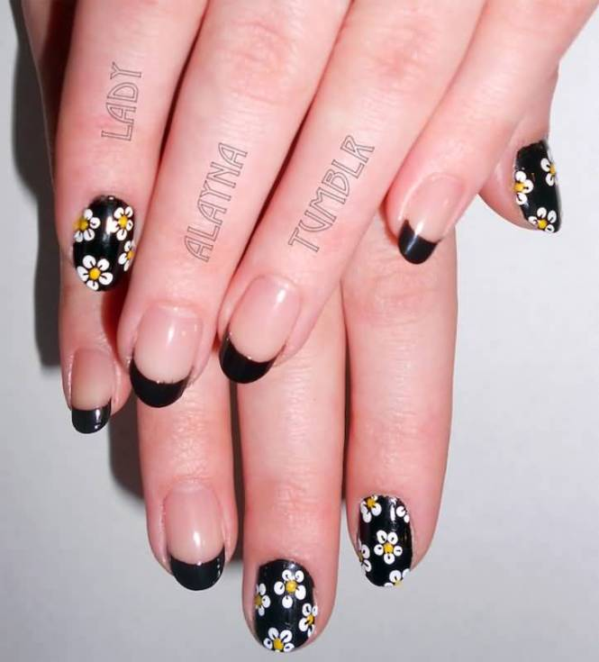 Nail Designs Black Tips Style 2017 2018