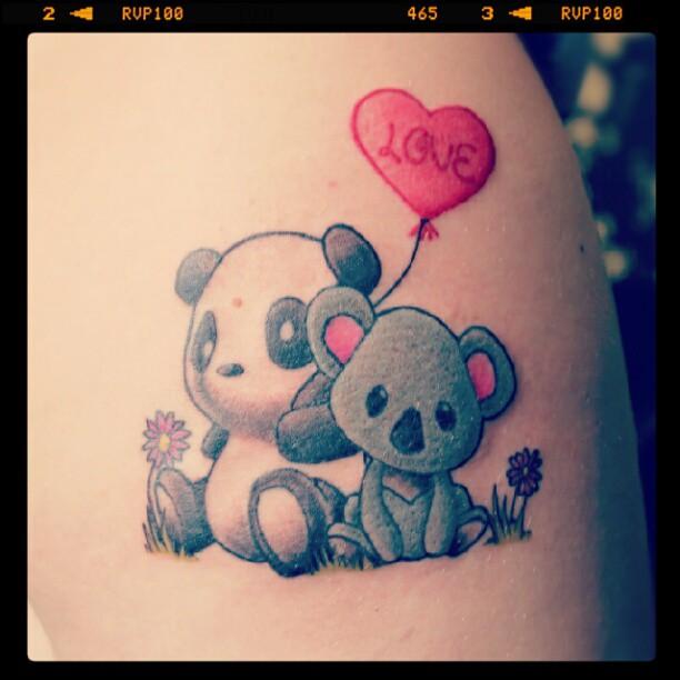 13 Panda Love Tattoos Ideas