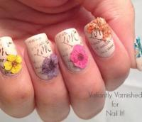 Nail Art Designs With Dried Flowers | www.pixshark.com ...