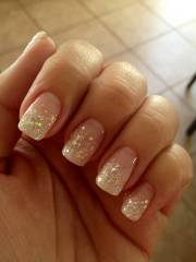 beautiful glitter french