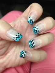 chevron nail art ideas