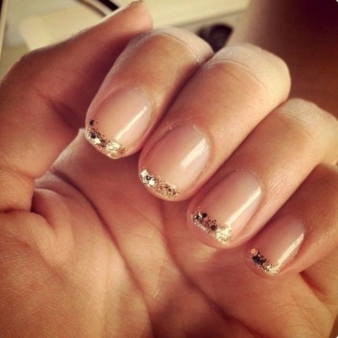 View Images Most Beautiful Glitter French Tip Nail Art
