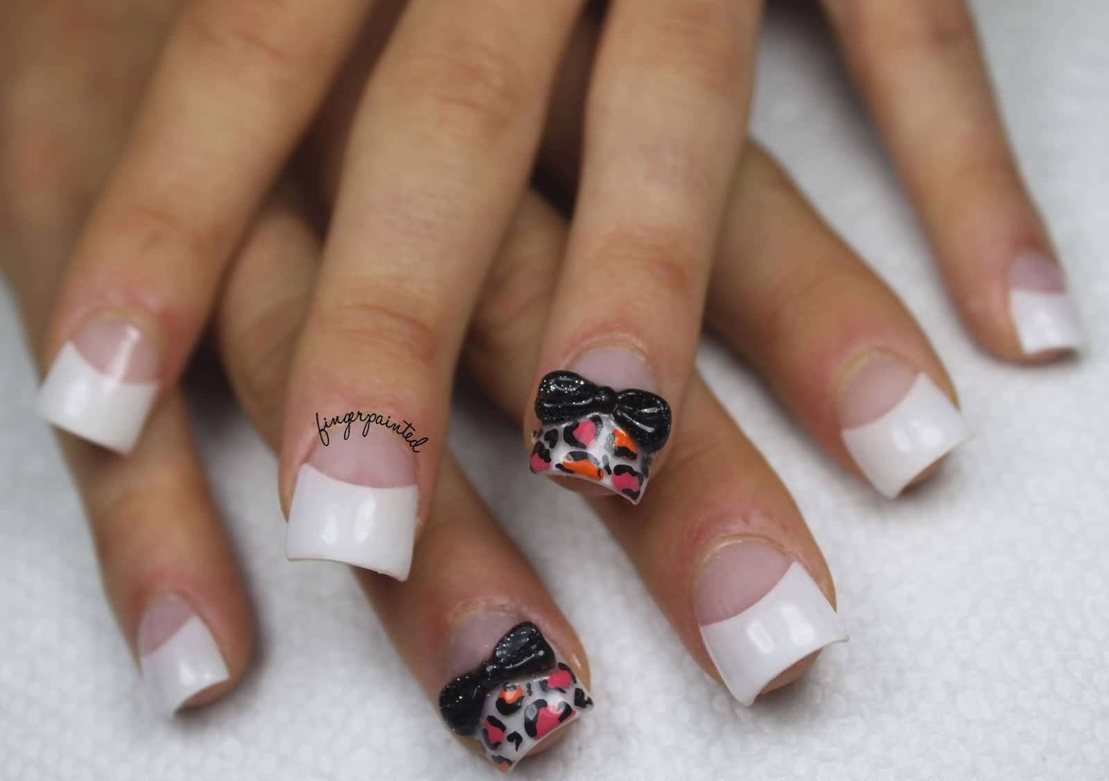 Black And White Tip Acrylic Nail Designs Best Cute Art