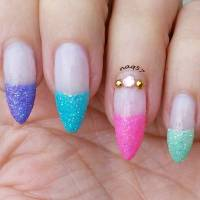 French Tip Nail Designs Glitter - Nails Gallery