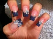 beautiful 3d flowers nail
