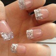 beautiful glitter french