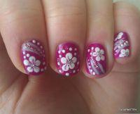 55 Most Beautiful Flowers Nail Art Design Ideas