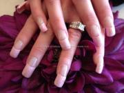 pink acrylic nail art design