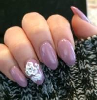 Purple And White Acrylic Nails | Best Nail Designs 2018