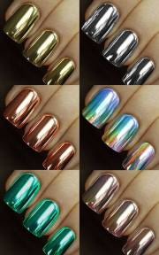 amazing metallic nail art design