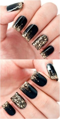 Gold And Black Nail Designs For Acrylic Nails   www.imgkid ...