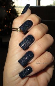 stylish black acrylic nail