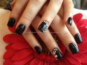 stylish black acrylic nail