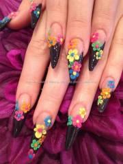 latest 3d acrylic paint nail