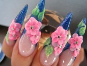 latest 3d acrylic paint nail