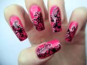 latest lace nail art design