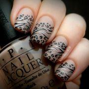 latest leopard print nail art