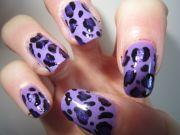stylish purple leopard