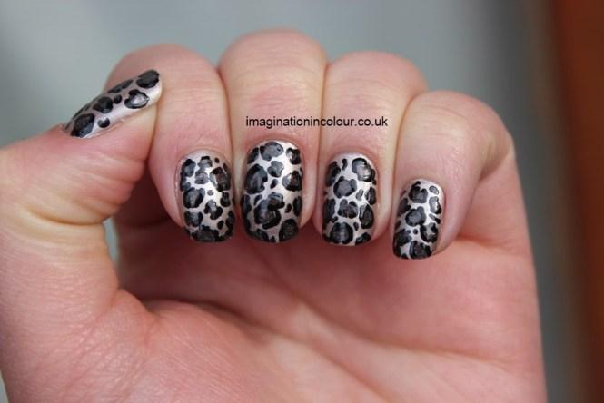 Pink Toe Nail Art Leopard Silver Print Beauty Industriet