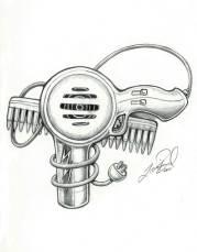 4 blow dryer tattoo design