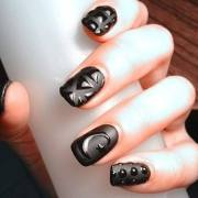 stylish matte nail art