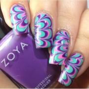 beautiful marble nail art design