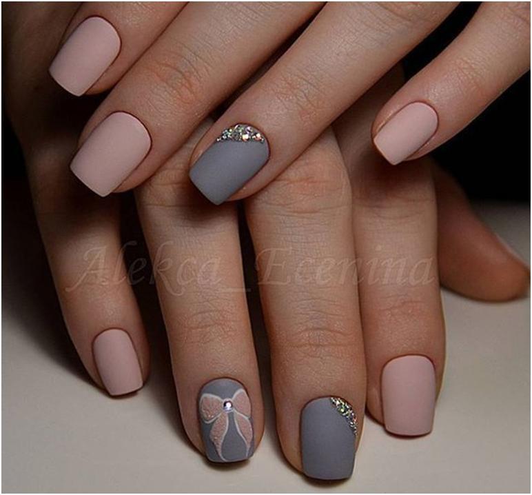 50 Most Beautiful Matte Nail Art Design Ideas For Trendy Girls