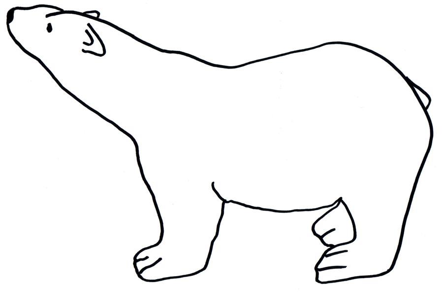 22+ Outline Polar Bear Tattoos