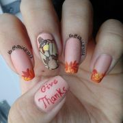 latest thanksgiving nail art