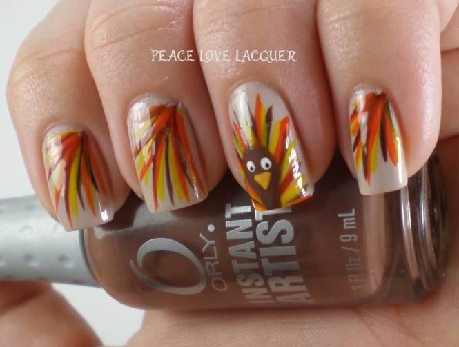 15 Easy Thanksgiving Nail Art Designs Ideas Trends