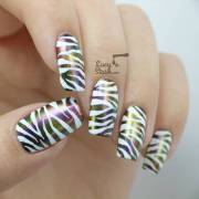 zebra print nail art ideas