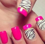 beautiful zebra print nail