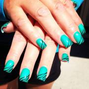 zebra print nail art ideas