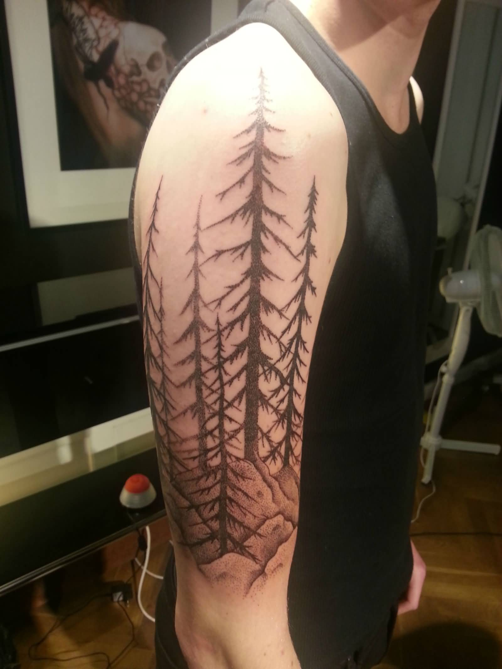 Forest Sleeve Tattoos For Men