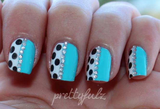 Winter Nail Art Half Moon Nails