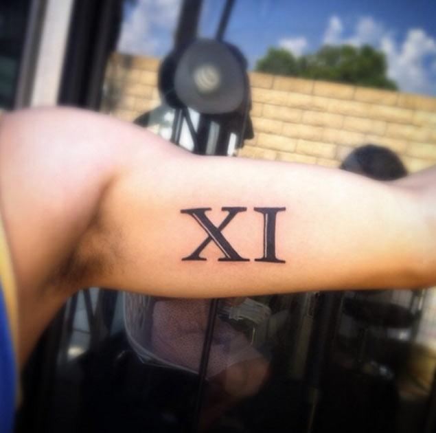 Roman Numeral 3 Tattoo Wrist