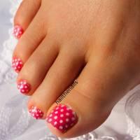 polka dot toenail designs for pedicure polka dot toenail ...