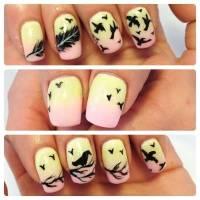50 Latest Feather Nail Art Design Ideas