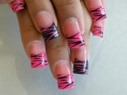 latest zebra print nail art