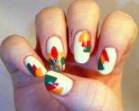 25+ Latest Thanksgiving Nail Art Designs