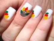 latest thanksgiving nail art