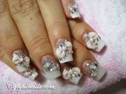 cool wedding nail art design
