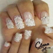 cool wedding nail art design